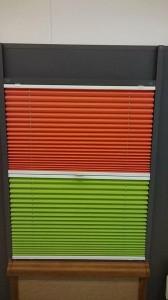 Dviejų spalvų pliusotos žaliuzės